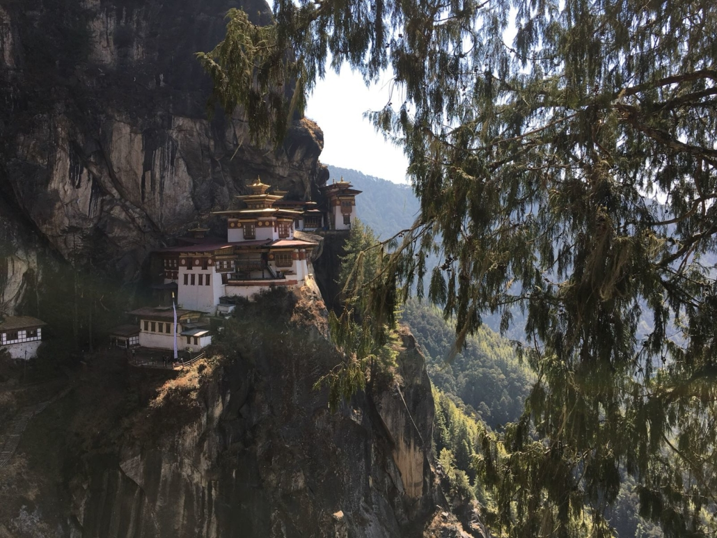 Tigers Nest seen on holiday in Bhutan