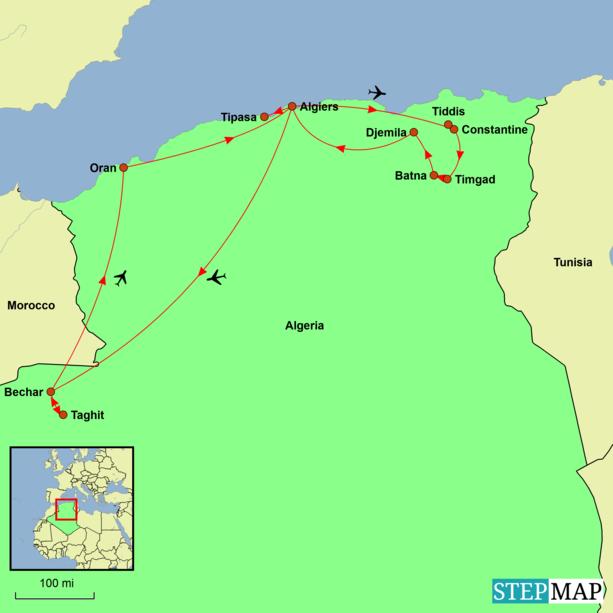 Algeria Tour Map