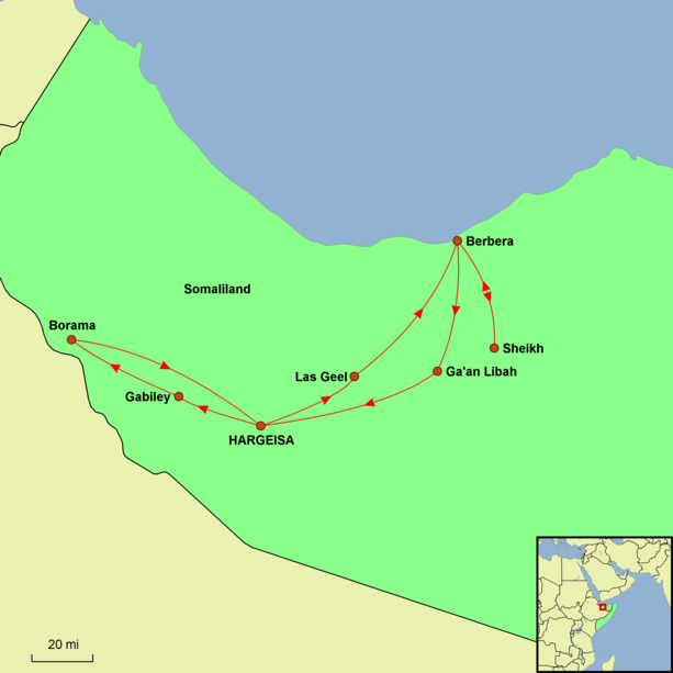 Somaliland Uncovered Tour Map