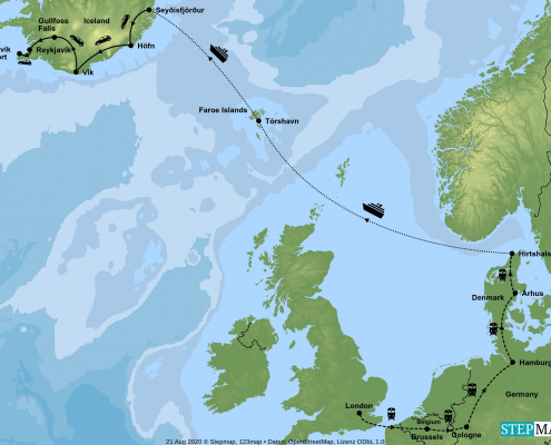 Iceland Holiday Map